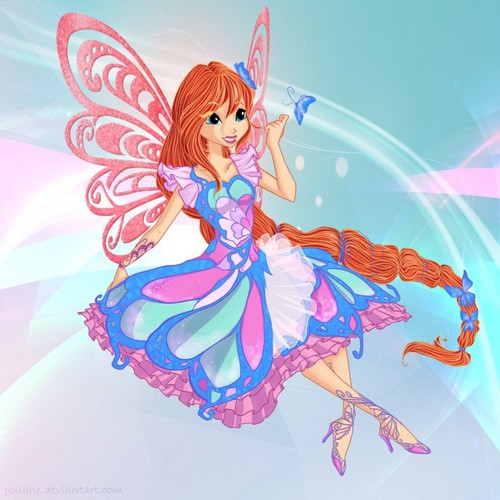 o clube das winx wallpaper probably with animê entitled Bloom Butterflix