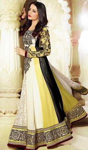 Болливуд Diva Celina Jaitley Georgette Floor Length Anarkali Suit