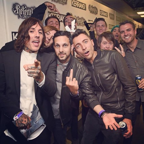 Bring Me The Horizon wallpaper entitled Bring Me The Horizon, Dynamo and All Time Low at Kerrang Awards 2015