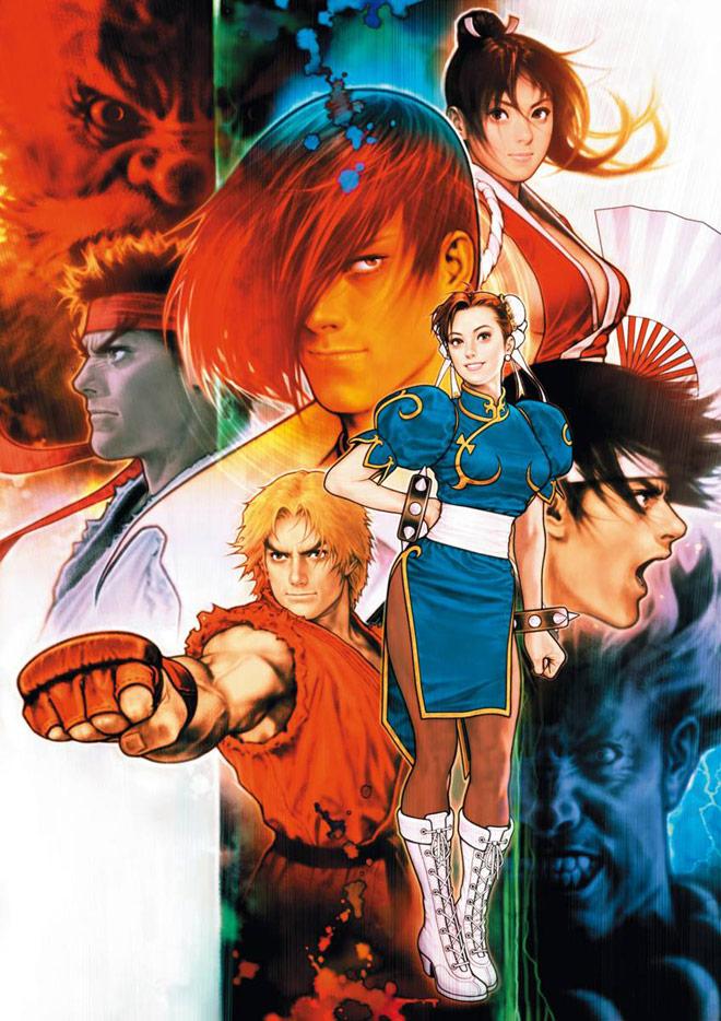 Capcom Vs Snk Images Capcom Vs Snk Iori Mai Kyo Chun Li Ken