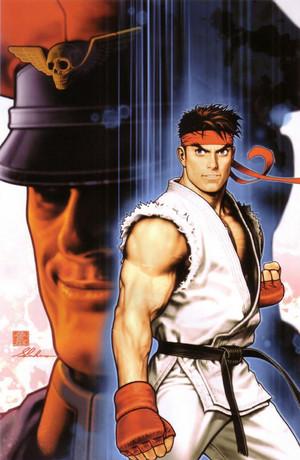 Capcom vs SNK   Ryu and M.Bison