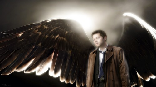 Supernatural wallpaper containing a fountain called Castiel