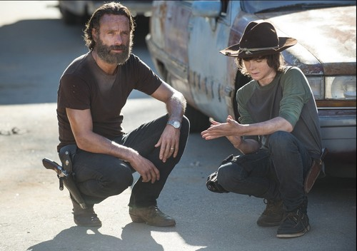 Chandler Riggs پیپر وال possibly containing a boater and a fedora entitled Chandler and Andrew
