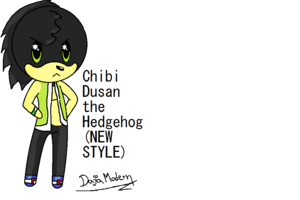 Chibi Dusan the Hedgehog (NEW STYLE)