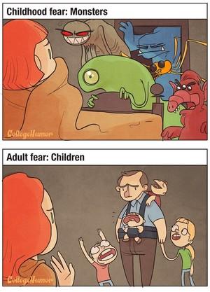 Childhood Fear vs. Adult Fear