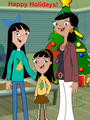 Christmas at the Hiranos' - stacy-from-phineas-and-ferb fan art