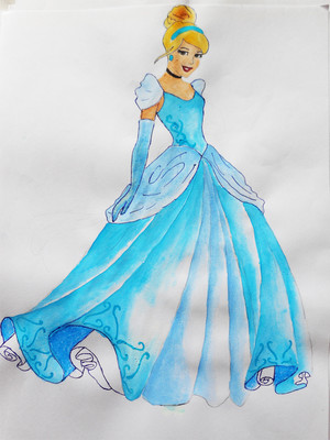 cinderella drawing kwa me