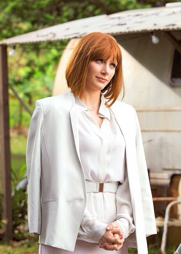 Jurassic World karatasi la kupamba ukuta possibly with a business suit and a well dressed person entitled Claire Dearing