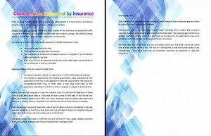 Clinical Trials Supported oleh Insurance
