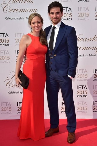 Colin O'Donoghue wallpaper with a business suit entitled Colin and Helen O'Donoghue | IFTA 2015