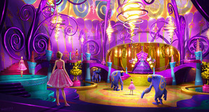 Concept Art of barbie and the Secret Door