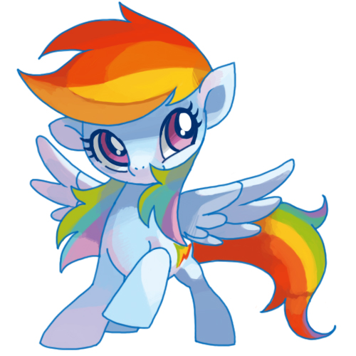 My Little Pony Friendship is Magic wallpaper probably containing anime called Cute Rainbow Dash