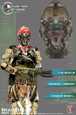 Cyborg Corps Military Cyborgs designed द्वारा Calvin's Custom one sixth scale 1:6 original डिज़ाइन Milita