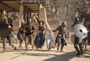 Daario Naharis, Dany, Missandei and Jorah Mormont