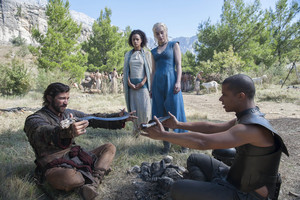 Daario Naharis, Grey Worm, Missandei and Daenerys