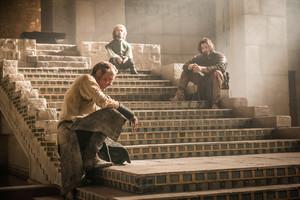 Daario Naharis, Jorah Mormont and Tyrion Lannister