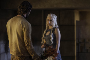 Daario Naharis and Daenerys Targaryen