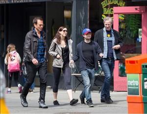 Daniel Radcliffe,Erin & Will Arnett Enjoying Outing in NewYork! (FB.com/DanielJacobRadcliffeFanClub)