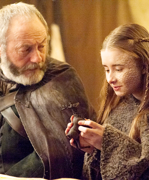 Davos Seaworth and Shireen Baratheon