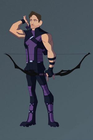 Dean as Hawkeye