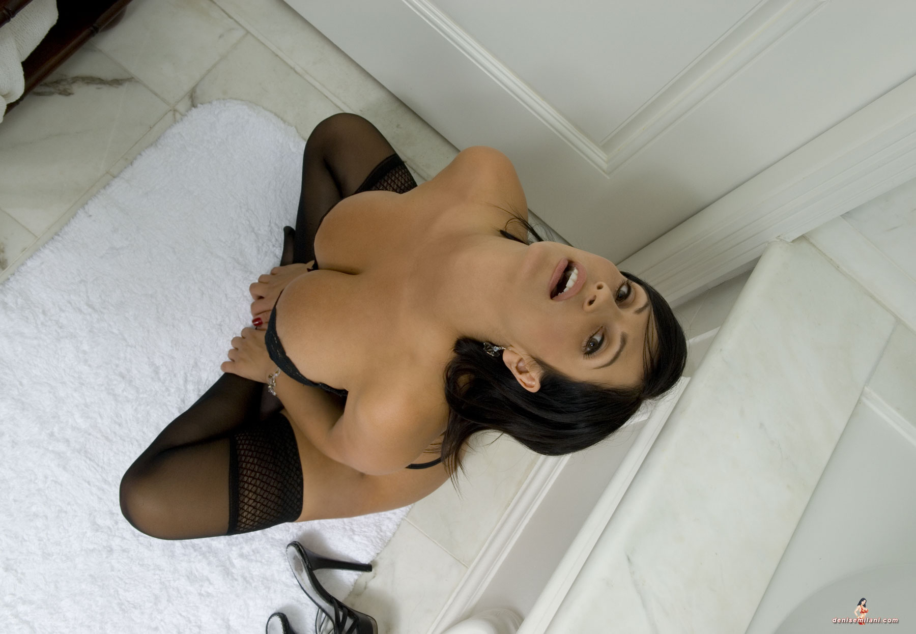 Denise Milani | Black Lngerie