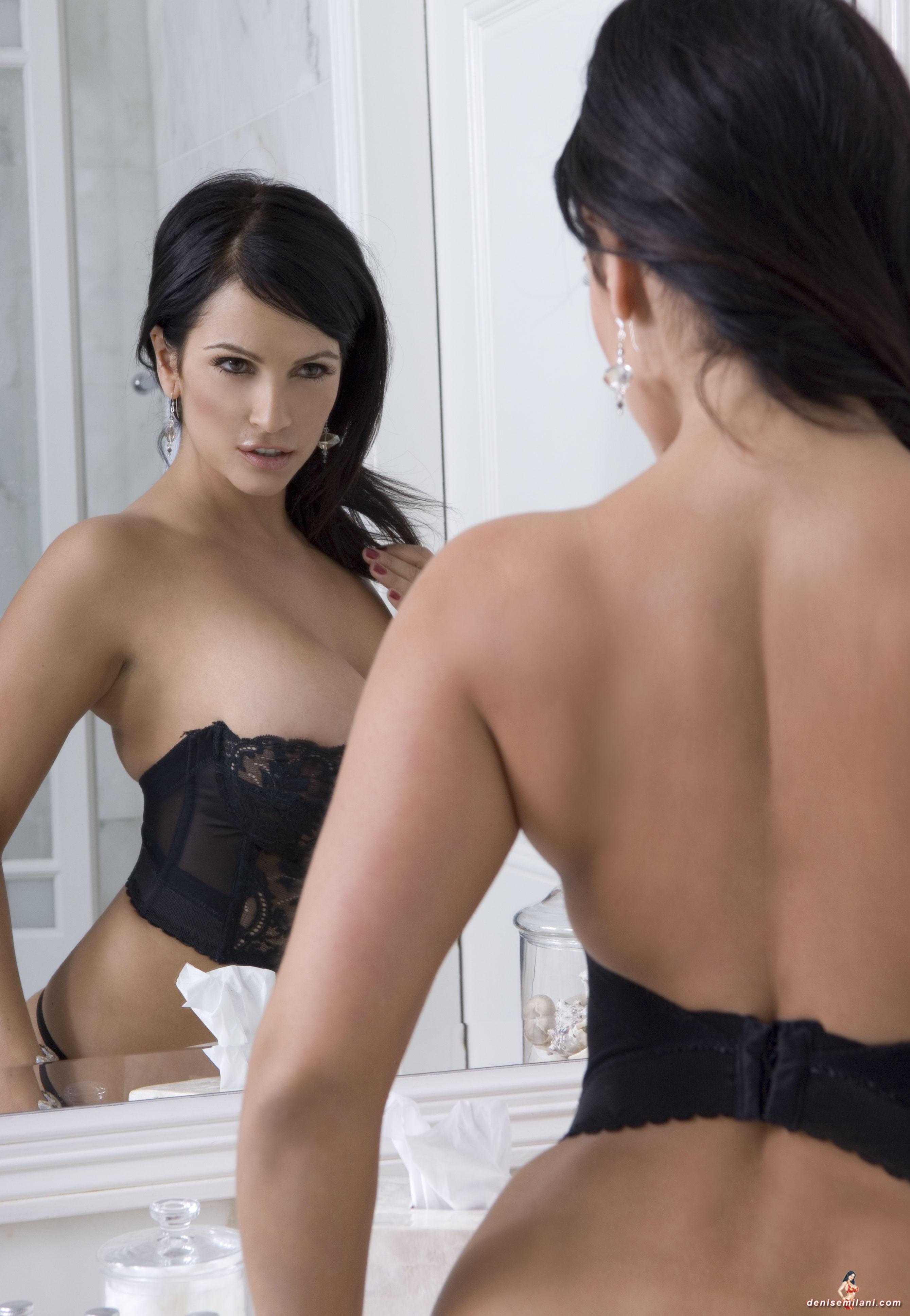 Denise Milani | Black lingerie