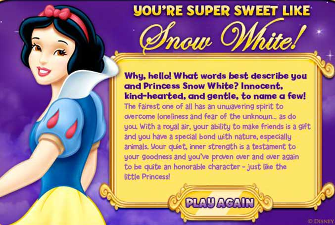 Disney princess Snow white info