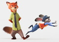 Disney's Zootopia Nick Wilde and Judy Hopps First Look