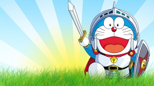 Doraemon karatasi la kupamba ukuta called Doraemon sword warrior