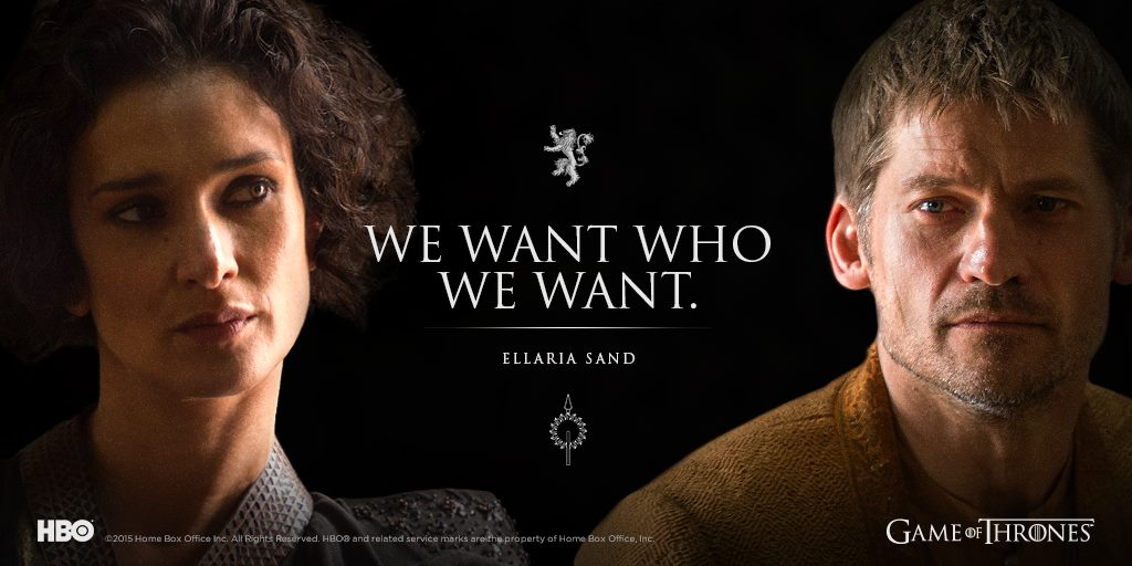 Ellaria Sand and Jaime Lannister