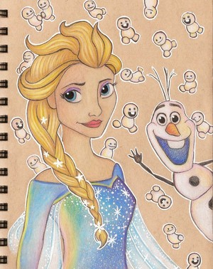 Elsa, Olaf and Snowgies
