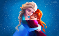 Elsa and Anna - elsa-the-snow-queen wallpaper