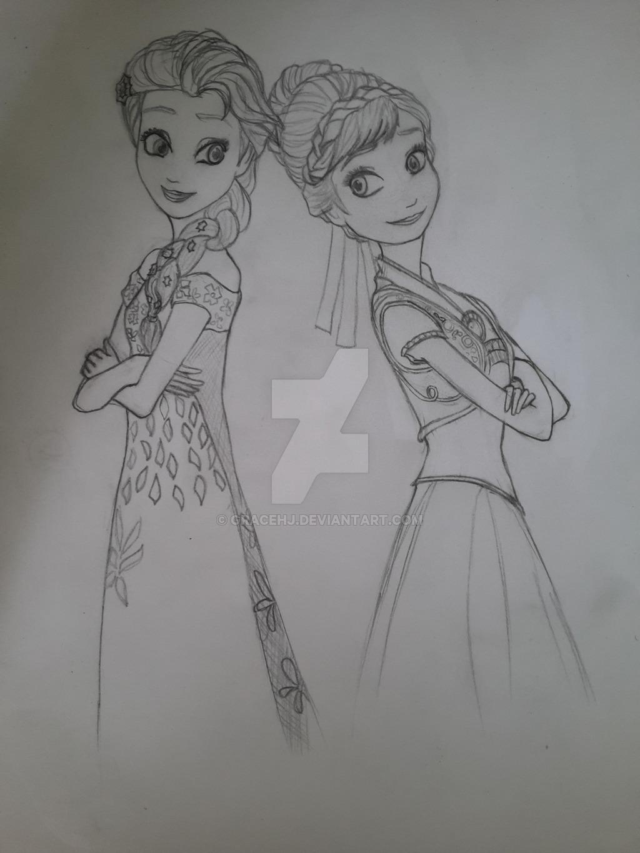 《冰雪奇缘:生日惊喜》 images 艾尔莎与安娜 hd wallpaper and