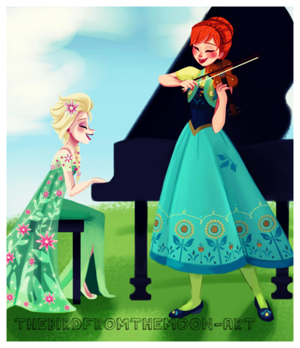 Frozen Fever wallpaper called Elsa and Anna