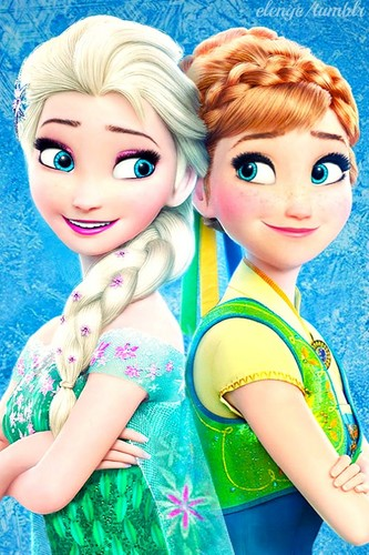 Frozen Fever Hintergrund possibly with a portrait entitled Elsa and Anna