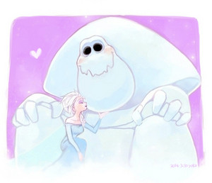 Elsa and Marshmallow