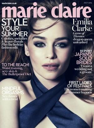 Emilia Clarke on Marie Claire