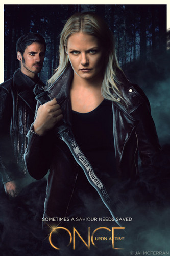 Once Upon a Time - Es war einmal... Hintergrund entitled Emma and Hook