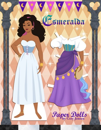 disney Extended Princess wallpaper titled Esmeralda Paper Doll