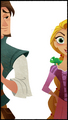 Eugene and Rapunzel in Disney Junior's Rapunzel – Neu verföhnt Series