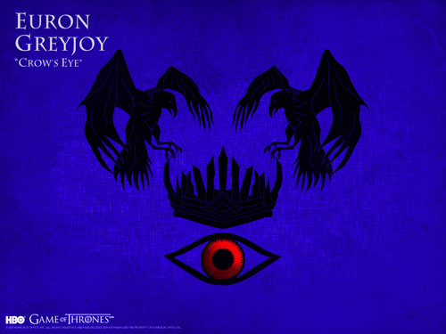 Game of Thrones wallpaper probably with a sign and anime titled Euron Greyjoy