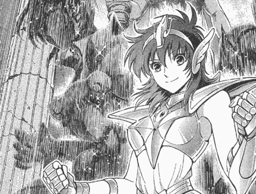 Saint Seiya (Knights of the Zodiac) fond d'écran probably containing animé entitled Female Seiya in manga