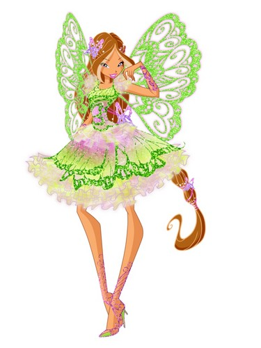 Winx Club(ウィンクス・クラブ) 壁紙 with a bonnet entitled Flora Butterflix
