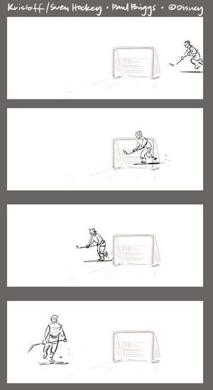 ফ্রোজেন - Kristoff and Sven Hockey Storyboard