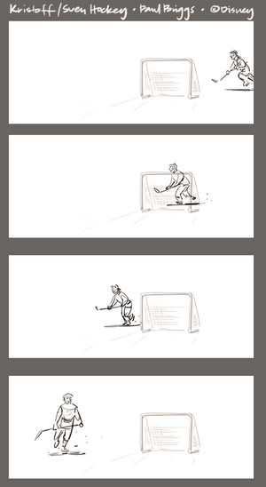 Frozen - Kristoff and Sven Hockey Storyboard