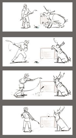 Холодное сердце - Kristoff and Sven Hockey Storyboard