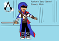 Fusion of Ezio edward Connor Altair - assassins-creed fan art