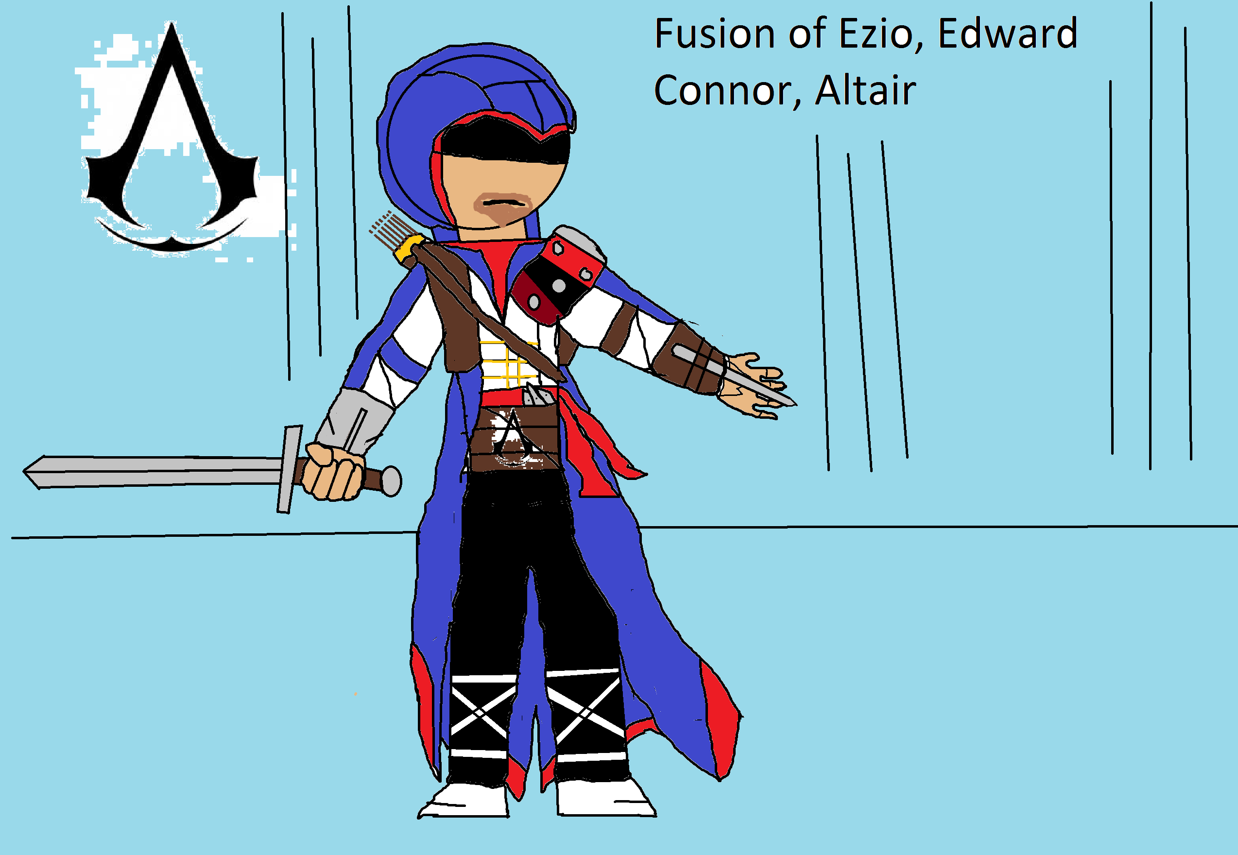 Fusion Of Ezio Edward Connor Altair Assassin S Creed Fan Art