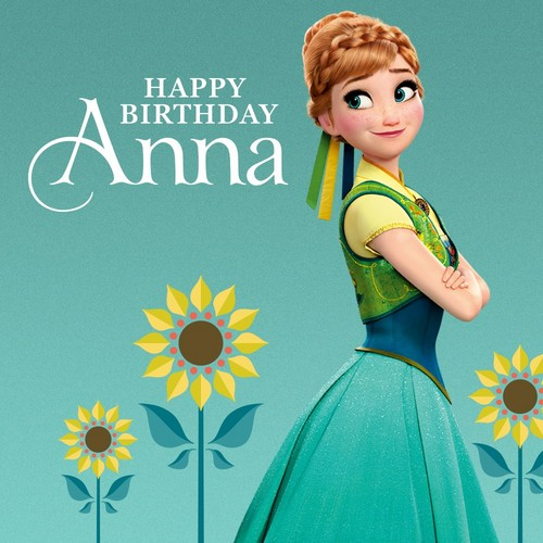 Frozen Fever Hintergrund possibly with a kleid and a abendessen dress titled Happy Birthday Anna