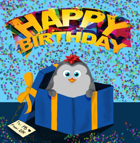 पेंग्विन्स ऑफ मॅडगास्कर वॉलपेपर entitled Happy Birthday, PB!